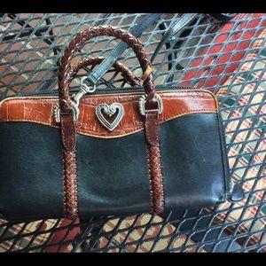 Brighton crossbody/purse. Black and brown.